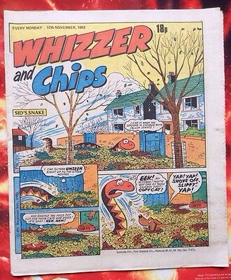 Whizzer And Chips Comic. 12 November 1983. Unread/unsold Newsagents Stock. Vfn+