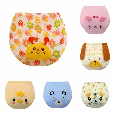 US Baby Kid Training Pants Reusable Cloth Washable Infant Nappy Diaper Underwear
