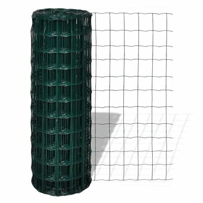 Steel Wire Mesh Roll Fence 1x25m PVC Coated Garden Pet Poultry Fencing 100x100mm