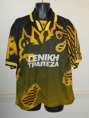 Rare AEK Athens Greece Home Shirt  1998-1999 xl men's   #999B