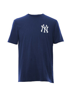 MLB Baseball New York NY Yankees T-Shirt Mid Longline Carrier Rückendruck navy