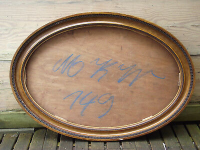 Large Oval Vintage Antique Edwardian Style Picture Painting Mirror Frame