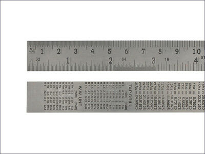 Faithfull flexible stainless steel rule with permanently etched metric and inch