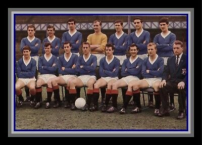 Collectors/Photograph/Print/7 x 5 Photo/Glasgow Rangers Team Group 1963/64