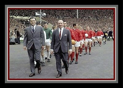 Collectors/Photograph/7 x 5 Photo/Manchester United/Leicester 1963 FA Cup Final