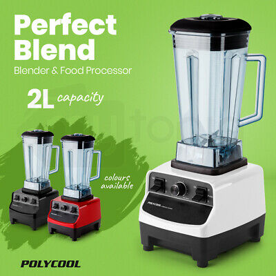 POLYCOOL 2L Commercial Blender Mixer Food Processor Smoothie Ice Crush Fruit