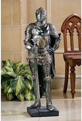 Medieval Gothic Museum Replica Half Scale Knight of the Throne Statue NEW