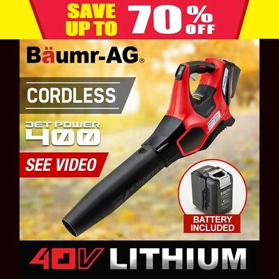 Baumr-AG Electric Cordless 40V Leaf Blower - Lithium Powered Garden Power Tool