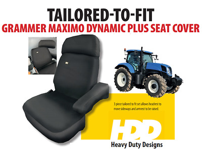 Grammer Maximo Dynamic Plus 3Pce Tailored To Fit Tractor Seat Cover (Black)