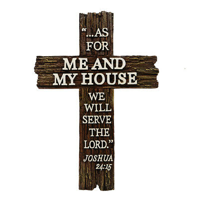 Lord Jesus Bible Verse Cross Christian Scripture Home Wall Decor New House Gift