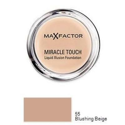 MAX FACTOR Miracle Touch Foundation Blushing Beige 55 - 11.5g NEW SEALED
