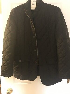 Barbour Men's Quilted Lutz Jacket Black XL Extra large Brand New With Tags