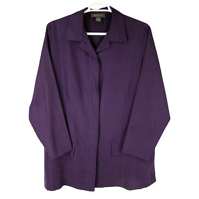 LANE BRYANT Jacket 18W 20W Lightweight Rayon Twill Split Side Washable Blazer