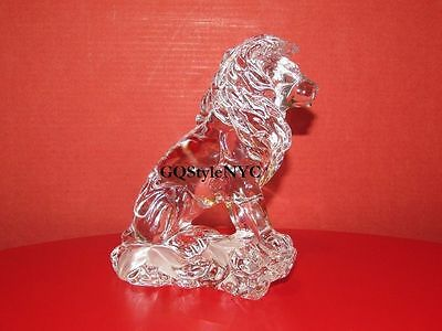 Lenox Crystal Lion Sitting King Of The Jungle Animal Mint Condition Tiger Rare