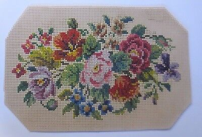 Handmade, Old Stick Picture with Flowers Motif Year 1910 (61463)