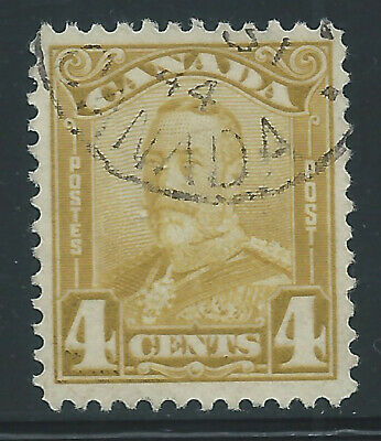 Canada #152(3) 1929 4 cent bistre George V Scroll Used CV$7.50