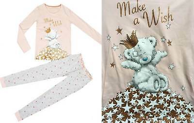 M&S Pyjamas Me To You Tatty Ted Teddy Make a Wish Girls 5 -  6  Years NEW