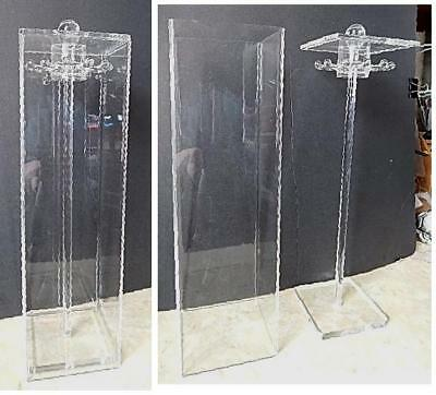 Clear Acrylic Plexiglass Enclosed Necklace Jewelry Stand Countertop Display Rack