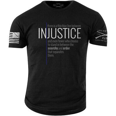 Grunt Style Thin Blue Line T-Shirt - Black