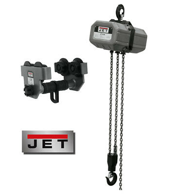JET 2-Ton Electric Chain Hoist w/ 20' Lift & 2-Ton Trolley! ~ 2SS-1C-20 & 2-PT