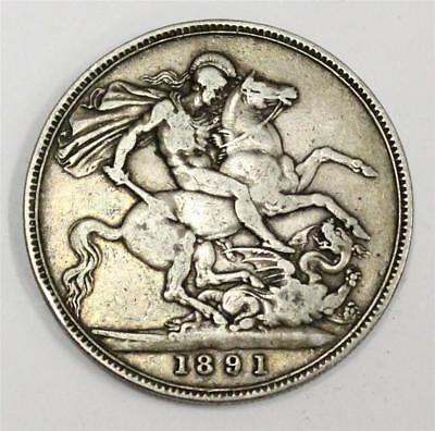 1891 Great Britain silver Crown VF20