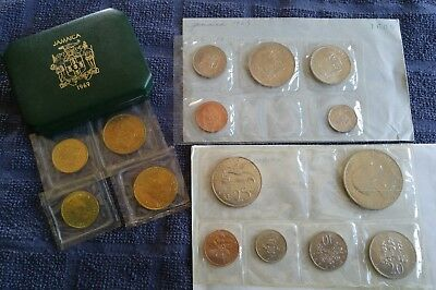 1969 lot sets Jamaica Coins MINT SEALED penny half penny uncirculated proof