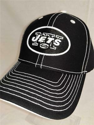 e679b36b59e New York Jets Adult Mens Unisex Adult Size OSFA Black Adjustable NFL Cap Hat