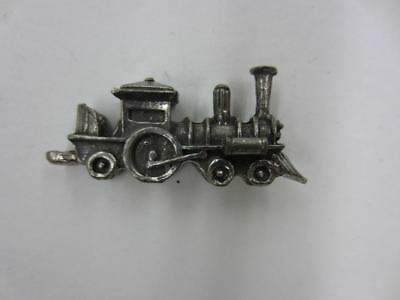 #21 Vintage STEAM LOCOMOTIVE Cracker Jack Prize Toy Charm Miniature Metal Train