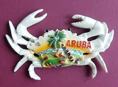 Souvenir Fridge Magnet Aruba Crab Dutch Caribbean