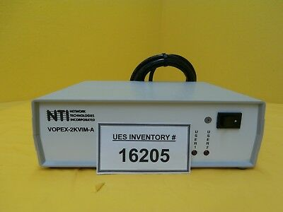 NTI Network Technologies VOPEX-2KVIM-A 2-port Video Switching KVM Splitter Used