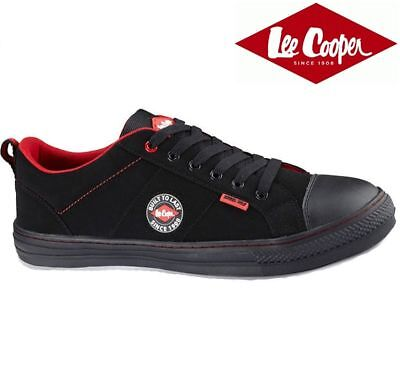 Mens Lee Cooper Black safety shoes Trainers Metal toe Cap UK size 6
