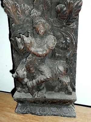 Vintage Carved Indian plaque statue from India