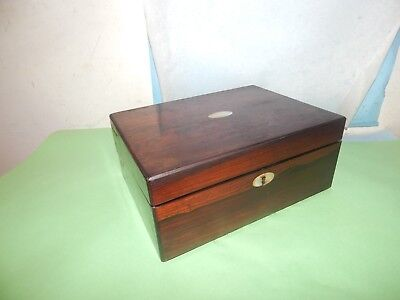 Vintage Rosewood & Mother of pearl  Writing Slope