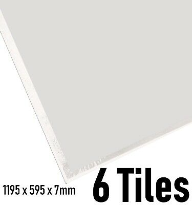 Suspended Ceiling Tiles 1195x595 x 7mm EasyClean Wipeable Laminated 1200x600mm