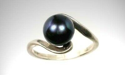 "Antique Black Pearl Ancient ""Mukta"" India Hindu Dewdrops Sacred to Lord Vishnu"