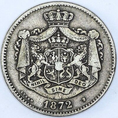 1872 Romania 2 Lei Coin - NO RESERVE Lot 158 of 256