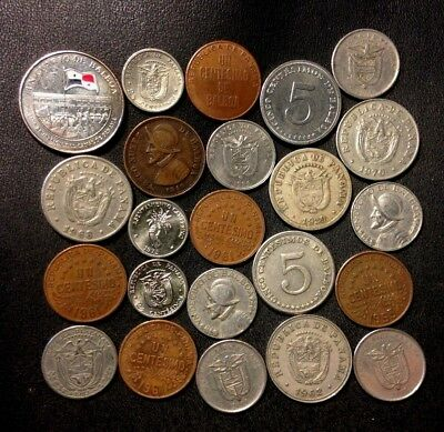 Old Panama Coin Lot - 1929-Present - 23 Great Coins - Lot #A14