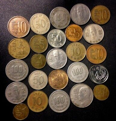 Old South Korea Coin Lot - 1959-Present - 25 Great Coins - Lot #A14