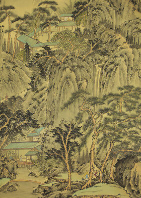 "CHINESE HANGING SCROLL ""Pine Landscape""  @b958"
