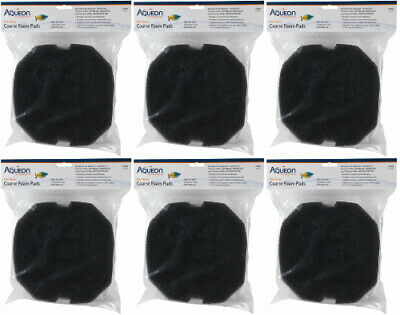 Aqueon Filter Media 24 Coarse Foam Pads Black, Large, 12ct (6 x 2ct)