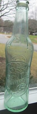 """5 Centa Soda Bottle, Like The 3 Centa, But 12 Ounce With 5 Centa On It, 9 3/4"""""""