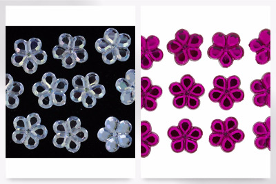 Dress It Up Flower Crystal Diamantes - per pack (DressItUp-3821-M)