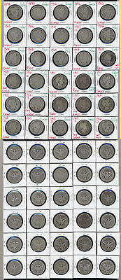 Lot Of 30 Barber Quarters- Includes Many Early Dates- No Reserve
