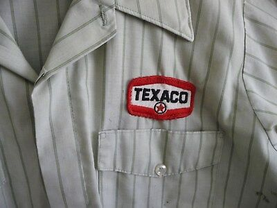 Vintage TEXACO Gas Service Station Uniform Used short Sleeve Medium