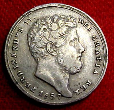 1857 Kingdom Of Two Sicilies Silver 20 Grana........min. Bid .01 & No Reserve!