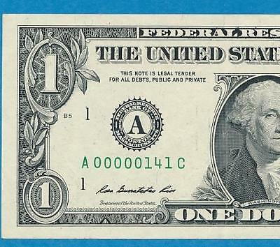 $1.00 2013 Boston  Super Low  Serial #141  Frn Note  No Reserve