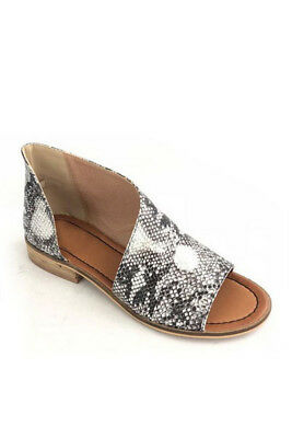 LEOPARD PRINT SIDE CUTOUT Flats BOOTIES Ankle Shoes Suede Boots Women NEW 5-11