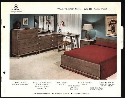 Mid Century Modern Mengel Furniture Catalog Pages Raymond Loewy