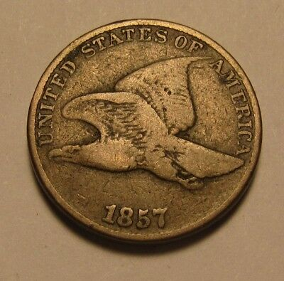 1857 Flying Eagle Cent Penny - Fine Condition - 32SA-2