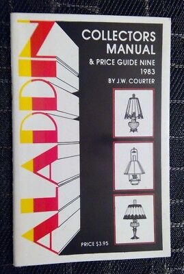 Aladdin Collectors Manual & Price Guide J.w. Courter Lighting Catalog 1983